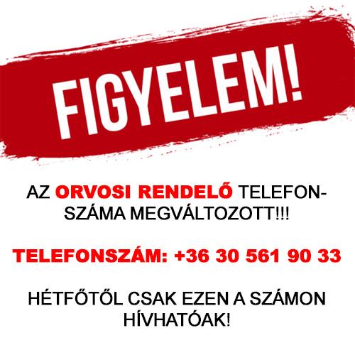 ORVOSI RENDELŐ TELEFONSZÁM VÁLTOZÁS!